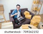 start up small business...   Shutterstock . vector #709262152