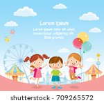 children and background with... | Shutterstock .eps vector #709265572
