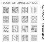 vector line icon of floor... | Shutterstock .eps vector #709270792
