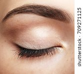 closeup macro shot of closed... | Shutterstock . vector #709271125