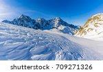 snow in winter season ... | Shutterstock . vector #709271326
