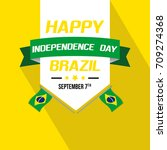 brazil independence day... | Shutterstock .eps vector #709274368