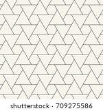 seamless geometric triangle... | Shutterstock .eps vector #709275586