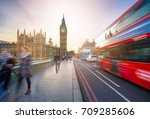 london  england   the iconic... | Shutterstock . vector #709285606