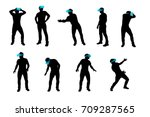 Vr Man Silhouette Set