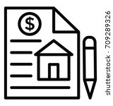 mortgage loan vector icon | Shutterstock .eps vector #709289326