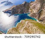 aerial  view of porto vromi... | Shutterstock . vector #709290742