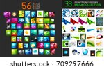 vector mega collection of... | Shutterstock .eps vector #709297666