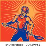 vector illustration of a coal... | Shutterstock .eps vector #70929961
