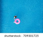aerial view  a man in swimming... | Shutterstock . vector #709301725