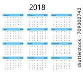 simple office calendar for 2018 ...   Shutterstock .eps vector #709302742