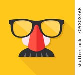 disguise mask. mask with...   Shutterstock .eps vector #709303468
