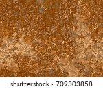 natural rusty texture ... | Shutterstock .eps vector #709303858