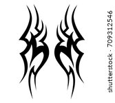 tribal tattoo art designs.... | Shutterstock .eps vector #709312546
