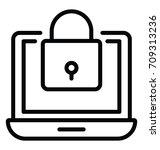 security vector icon | Shutterstock .eps vector #709313236