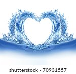 Blue Water Heart. Illustration...