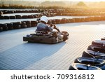karting competition or racing... | Shutterstock . vector #709316812