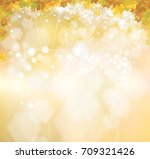vector autumnal leaves  ... | Shutterstock .eps vector #709321426