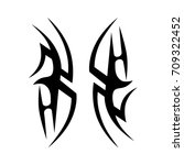 tribal tattoo art designs.... | Shutterstock .eps vector #709322452