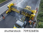 construction site roadwork  new ... | Shutterstock . vector #709326856