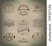 retro badges | Shutterstock .eps vector #709327156
