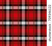 seamless tartan plaid pattern.... | Shutterstock .eps vector #709346122