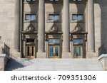 entrance of a large government... | Shutterstock . vector #709351306