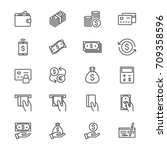 money thin icons | Shutterstock .eps vector #709358596