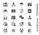 business flat icons | Shutterstock .eps vector #709358602