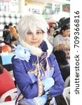 Small photo of CHIANG MAI,THAILAND - September 3, 2017:Cosplayers dressed as characters from the anime and game at Ruamchok Mall Chiang Mai, Thailand.