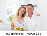 lovely lovers looking at the... | Shutterstock . vector #70936816