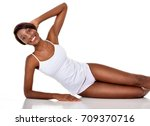 beautiful  african american... | Shutterstock . vector #709370716