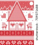 nordic style  inspired by... | Shutterstock .eps vector #709371688