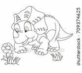 Fun Dinosaur  Sniffing A Flower ...