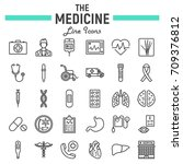 medicine line icon set  medical ...   Shutterstock .eps vector #709376812