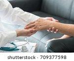 geriatric doctor  geriatrician  ...   Shutterstock . vector #709377598