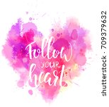watercolor imitation heart... | Shutterstock .eps vector #709379632