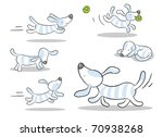 Stock vector dog vector drawing set isolated on white 70938268
