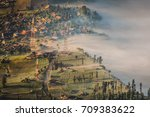 view of cemara lawang village... | Shutterstock . vector #709383622