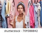 picture of worried beautiful...   Shutterstock . vector #709388842
