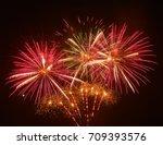 Fireworks Background. Red...
