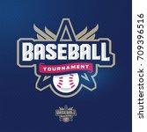 modern professional baseball... | Shutterstock .eps vector #709396516