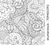 tracery seamless pattern.... | Shutterstock .eps vector #709401592