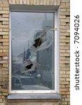 broken window glass | Shutterstock . vector #7094026