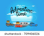 vacation travelling composition.... | Shutterstock .eps vector #709406026