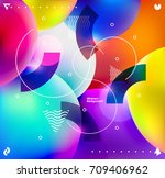 background of multicolored... | Shutterstock .eps vector #709406962