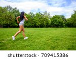 a beautiful young sporty girl