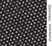 seamless primitive jumble... | Shutterstock .eps vector #709419502