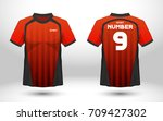 red and black layout football... | Shutterstock .eps vector #709427302