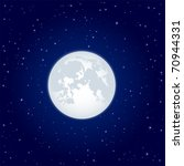 night background  moon and... | Shutterstock .eps vector #70944331